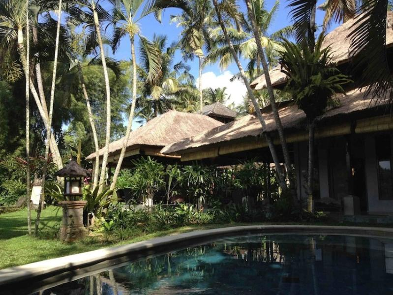 view to Study along shaded verandah to lounge/dining Bale - Arcadian paradise- Sayan Ridge- Best in Bali - Ubud - rentals
