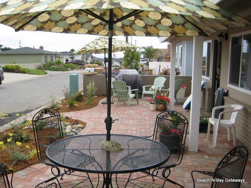 Enjoy the patrio area with comfortable seating and a Weber barbecue grill - Beautiful Remodeled Home! Spacious! Walk to Beach! - Morro Bay - rentals