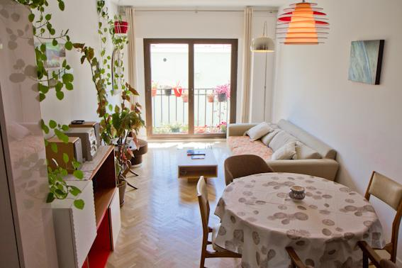 Living room. Salón. - Modern, Central & Quiet + Parking - Madrid - rentals