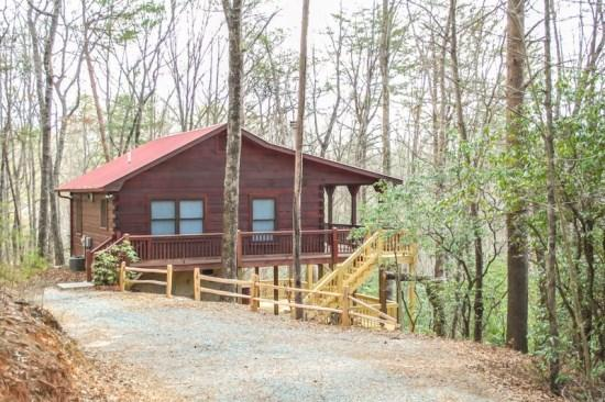 PLEASANT VIEW CABIN-SECLUDED MTN VIEW CABIN WITH 2 BEDROOMS AND 1 BATH. WIFI, COVERED PORCH, GAS LOG FIREPLACE, FLAT SCREEN TV, WITHIN WALKING DISTANCE OF PRIVATE LAKE AND CLOSE TO THE BENTON MACKAYE TRAIL ONLY $99/NIGHT! - Image 1 - Blue Ridge - rentals