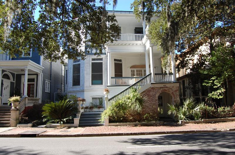 Exterior. This rental is entire Top Floor including private porches. - Whitaker Street Suites: Overlooking Forsyth Park! - Savannah - rentals