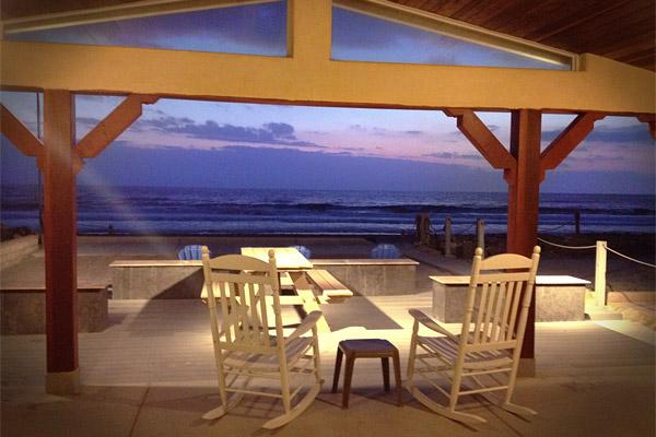 Backyard Ocean Views at Dusk. - Professionally Managed Beach House on the Sand - Oceanside - rentals