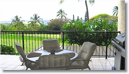 Private lanai - Country Club Villas 223  2/2 Ocean/fairway view - Kailua-Kona - rentals