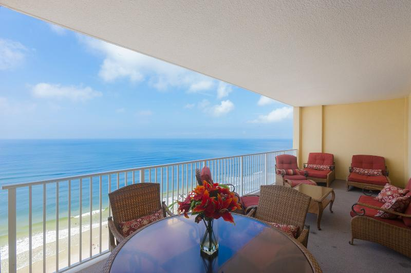 Amazing Gulf view directly from the balcony - AMAZING GULF FRONT; 2/2; Ocean Reef; Free Beach Service! Book Now! - Panama City Beach - rentals