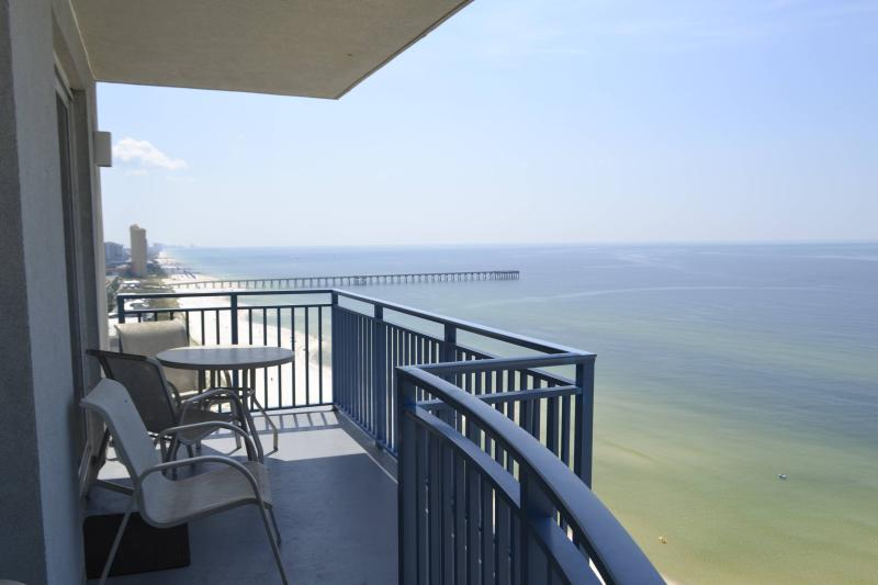 Panoramic Views from private balcony - 3BR/3BA Luxury end Unit Condo Walk To Pier Park - Panama City Beach - rentals