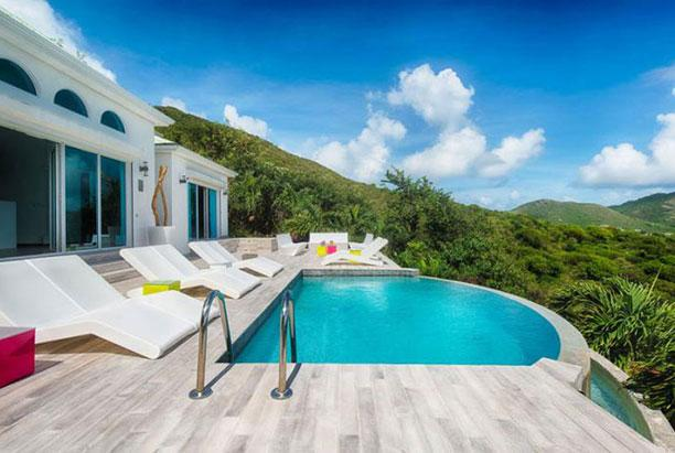 St. Martin Villa 153 Enjoy A Stunning View Over Orient Bay And Ocean Beyond From The Plunge Pool And Sun Deck. - Image 1 - Orient Bay - rentals