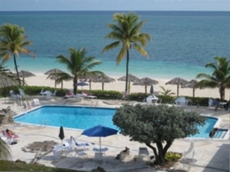 Oceanfront Beach View from Terrace - An Ocean Front Coral Beach Condo, Beautifully Renovated - Freeport - rentals