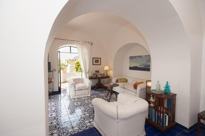 living room - Casa Giardino,  villa in the heart of Positano - Positano - rentals