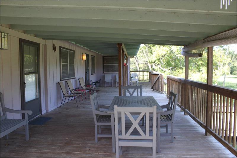 Picture of Deck - Guadalupe River Frontage & Walk To Gruene! - New Braunfels - rentals