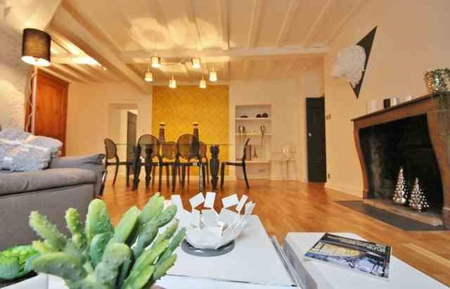 chic salon:dining area - A CHIC 3 bedroom 2 bathroom with balcony in DIJON - Dijon - rentals