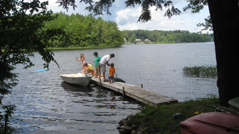 Private Dock and Swimming Area - Lake Warren-Alstead-Walpole-Keene- Cottage Rental - Alstead - rentals