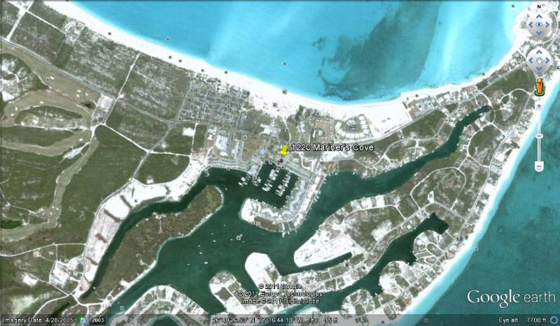 Google Earth  - 'Cozy Cove' - Treasure Cay - rentals