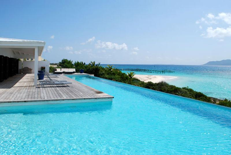 Anguilla Villa 18 Below The Swimming Pool Overflow, A Small And Separate Sundeck, Overlooking The Sea, Will Guarantee Your Privacy. - Image 1 - Anguilla - rentals