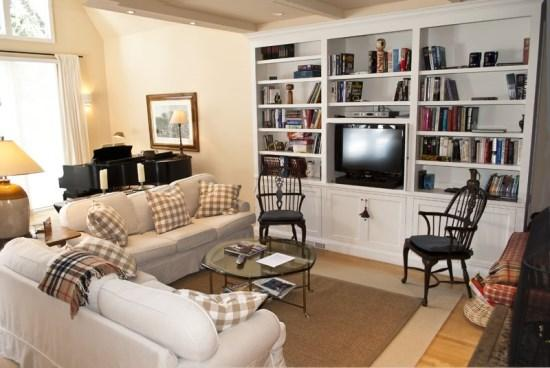 Large open Living room with piano - Fairway Road #304, Sun Valley - Luxury house with Central Air Conditioning - Sun Valley - rentals
