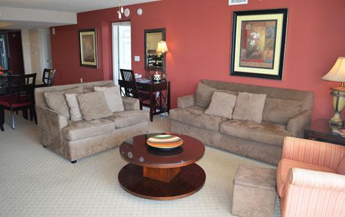 Spacious living room - Huge 3BR luxury villa 1-603 @ Yacht Club! - North Myrtle Beach - rentals