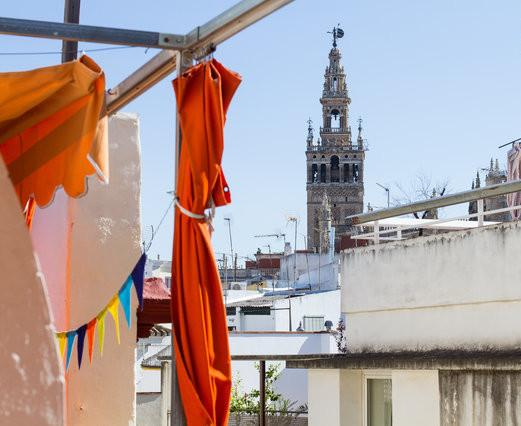 [566] Beautiful studio apartment with huge terrace - Image 1 - Seville - rentals