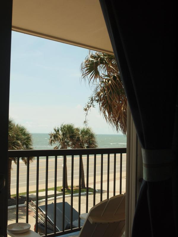 View from Pillow in Master Bedroom - Beach Paradise at Maravilla-True Gulf Front 2 BR - Galveston - rentals