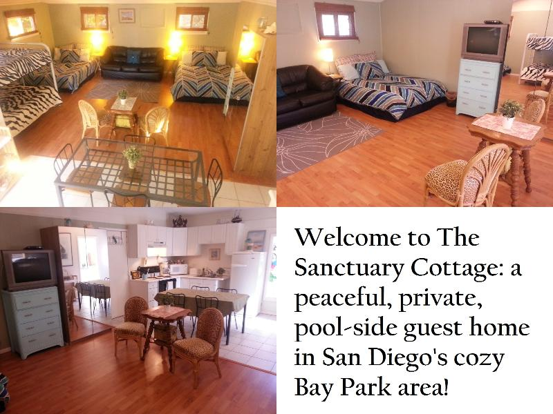 Private Pool-side Beach Cottage by SeaWorld Fits 9 - Image 1 - San Diego - rentals