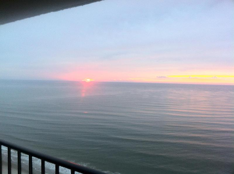 Sunrise from Balcony - Charming Oceanfront_Aug Week Open_ Myrtle Beach - Myrtle Beach - rentals