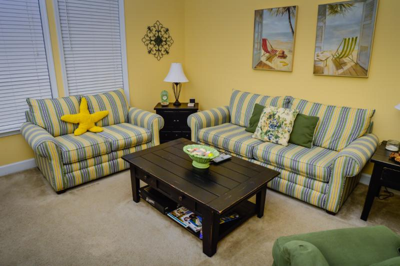 Living room  - Tanglewood 1612 @ Barefoot Resort, 3BR townhome - North Myrtle Beach - rentals