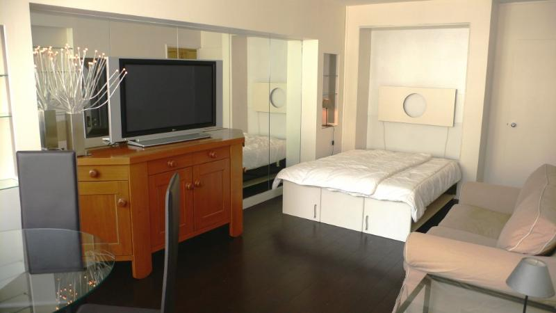 Main room Sofa, foldable double bed. - 522 Studio   Paris Champs Elysees district - Paris - rentals
