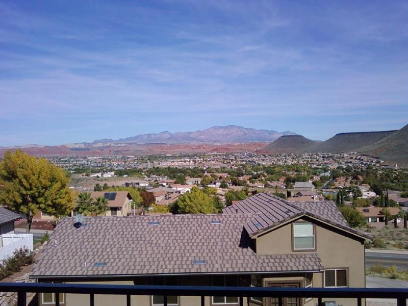 View from the back patio that over looks the backside of Green Valley - # 206 Las Palmas - Saint George - rentals