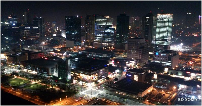 Nighttime Overview from the Unit - SOMA Residential Condo (2 Bedrooms) - Philippines - rentals
