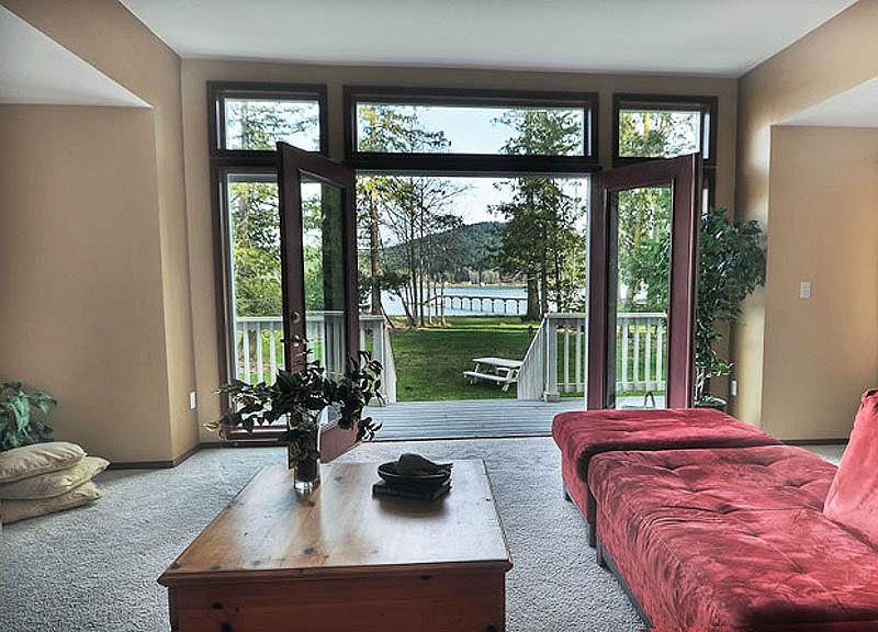 Living Room to French Doors, Oversized deck to expansive lawn are to waterfront - San Juan Island Be Famous for your Italian Cooking - Friday Harbor - rentals