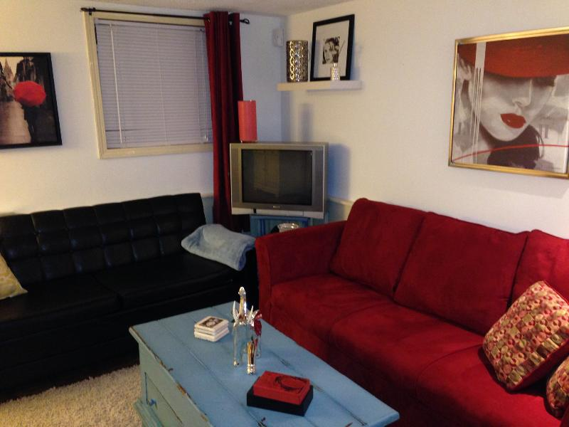 Living Room with pull-out couch - 1 - Bedroom Furnished & Fully Equipped Suite - Lethbridge - rentals