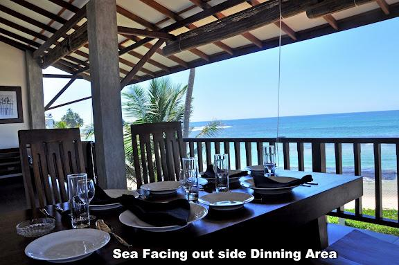 Open & Large Terrace with dining table - An Exotic 2 BR Holiday Apartment in Hikkaduwa - Hikkaduwa - rentals