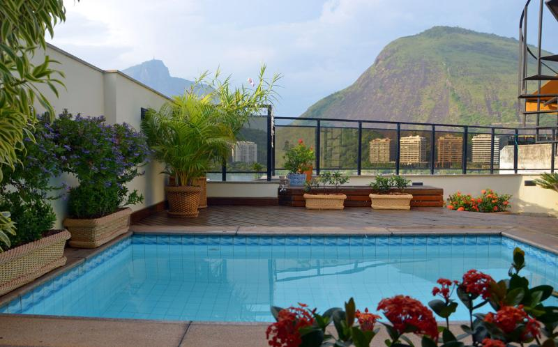Swimming pool - Ipanema Penthouse w Lagoa-lake views and pool - Rio de Janeiro - rentals