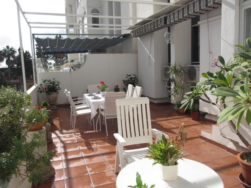 Terrace - On the Beach Tintero Malaga, WIFI, garage, terrace - Olias - rentals