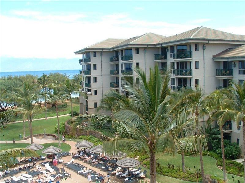 The Westin Villas are on the beachfront looking out at Lanai and Molokai - Ocean View Maui Resort for Easter 2015 - Kaanapali - rentals
