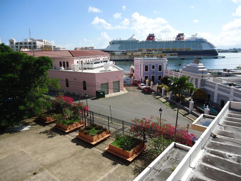 View of Cruise Ships in Harbor from Balcony - Old San Juan Condo Located on the Waterfront - San Juan - rentals