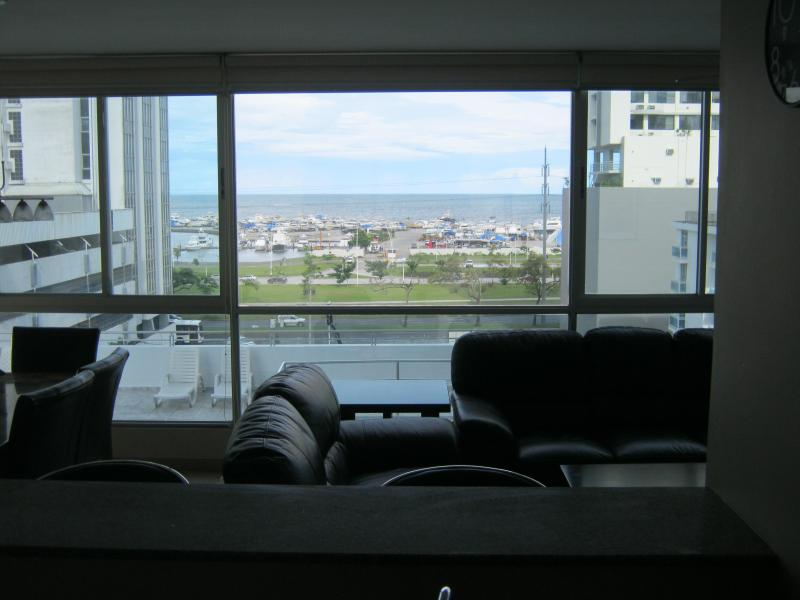 View from Kitchen of Marina and Bay of Panama. - Luxury 2 Bedroom Condo in Bella Vista(Ocean View) - Panama City - rentals