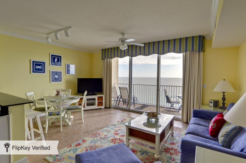 Spacious Living Area with Amazing Ocean view - Tidewater 2BR/3BA+Bunk Rm PLATINUM Level, Ocean Front, Renovated, 12th Flr, 4 Bch Chrs OPEN FROM 8/2 *** - Panama City Beach - rentals