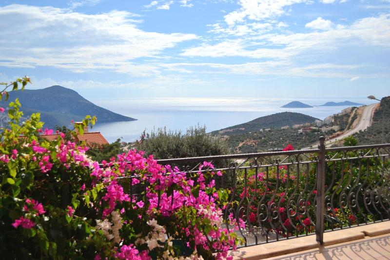 Villa Incantata - view from semi-covered dining terrace - Kalkan Luxury Villa, Private Pool, Fantastic Views - Kalkan - rentals