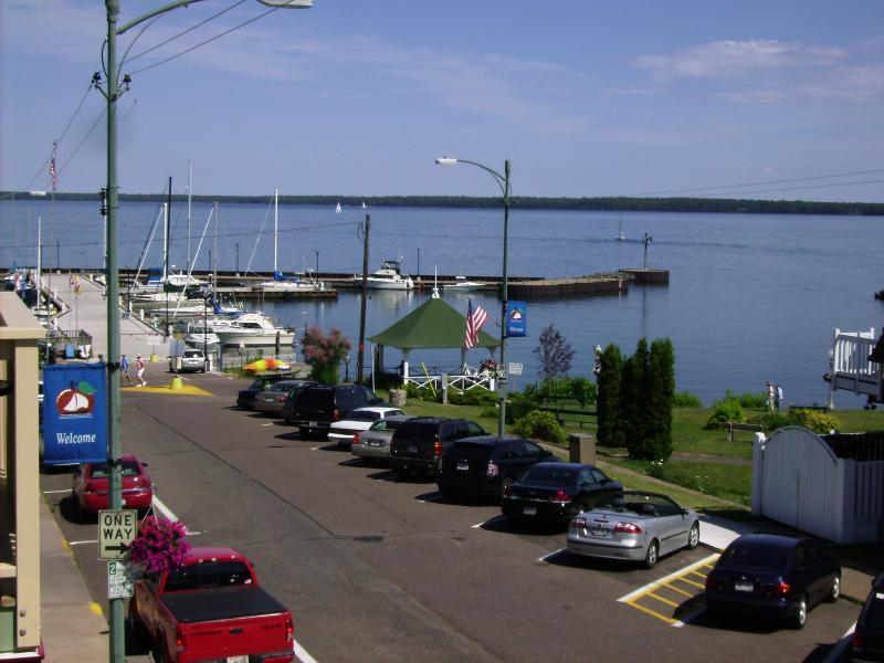 Look out at Madeline Island-Walk to everything! - ApostleRentals.com  Andrew Tate Condo #200 - Bayfield - rentals
