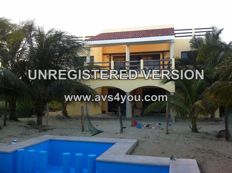 View of North side of house, facing the Gulf.  Sorry about the watermark! - Affordable Beautiful Beach Casitas - Ninos Del Mar - Telchac Puerto - rentals