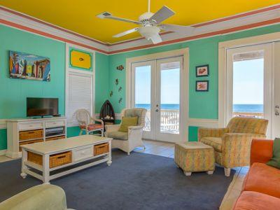 Get-A-Way to the Tropics w/spacious Gulf Front 5BR/4BA home w/ HUGE balcony, sleeps 14 - Image 1 - Gulf Shores - rentals