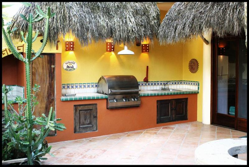 Outdoor BBQ with built in sink and burner - Casa Duende - Short easy walk to town square/beach - Sayulita - rentals