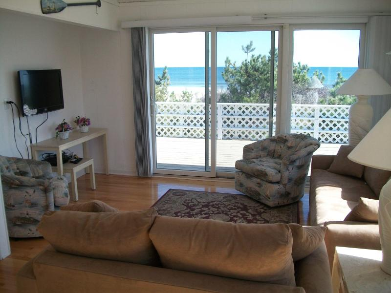 Living Room With Ocean Views - Oceanfront Single Family: Ready for 2013 Summer! - Beach Haven - rentals