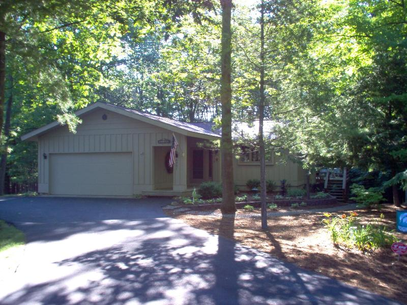 Front View of Home - Leland Home With North Lake Leelanau Access; 500' - Leland - rentals