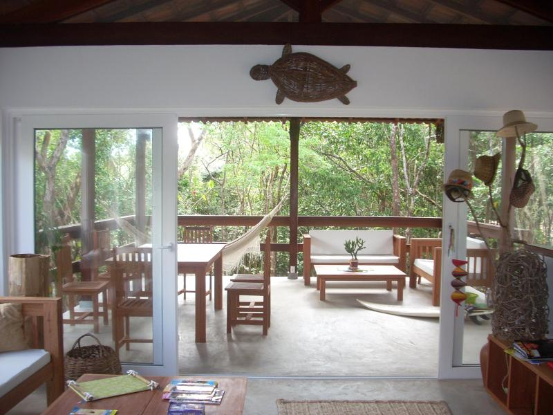 Living Room and Spacious Varanda - Surf and Forest House in Eco-Friendly Pipa- Brazil - Pipa - rentals