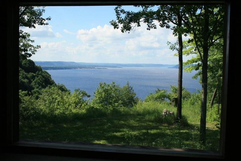View from Living Room, Deck and Bedrooms - Lake Pepin, Minnesota - Modern Bluff-top Home - Lake City - rentals