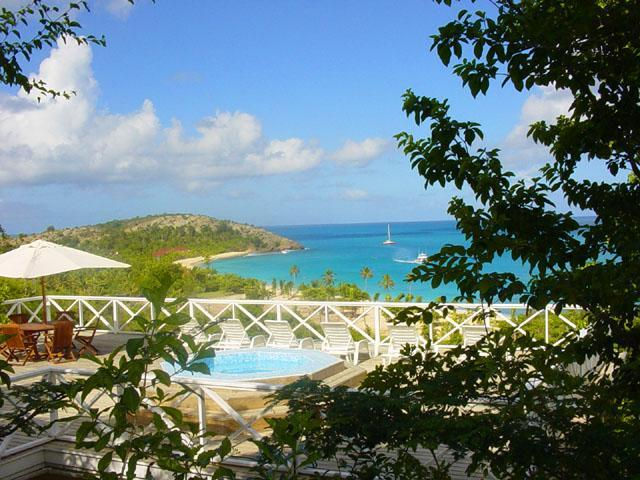 Jacuzzi sea view - Allegra  villa rental in exclusive Galley Bay - Antigua - rentals