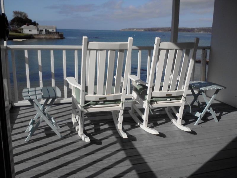 Enjoy ocean breezes on your private waterfront porch - Beachfront apt. on historic Rocky Neck, Gloucester - Gloucester - rentals