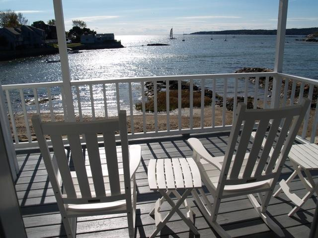 Relax on your waterfront porch - Beachfront getaway in Gloucester, Massachusetts - Gloucester - rentals