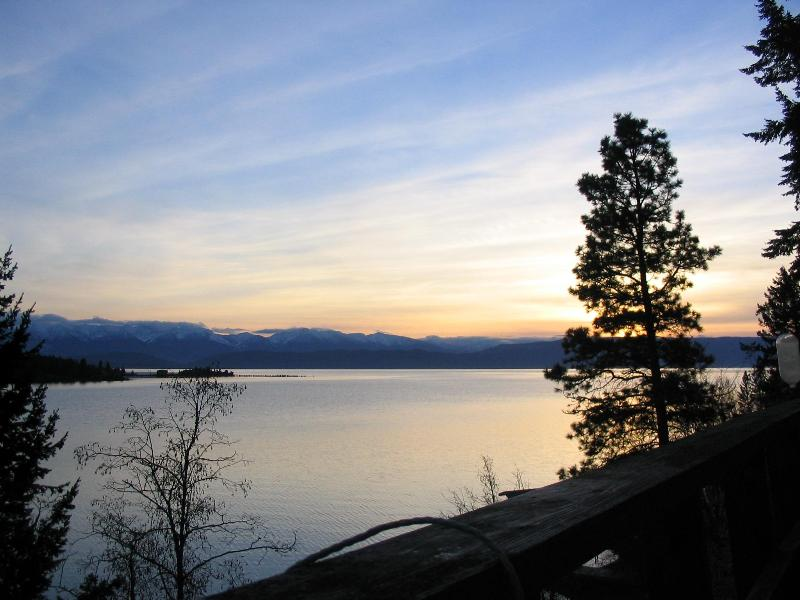 view from deck - Lakefront Home on Flathead Lake with Amazing Views - Somers - rentals