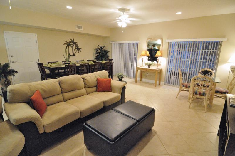 Living/Dining Room with 2 doors to Balcony - 6BR/5B MYRTLE BEACH SC HANDICAPPED FRIENDLY CONDO - Myrtle Beach - rentals